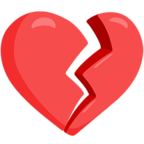 💔 Facebook / Messenger Broken Heart Emoji - Facebook Messenger