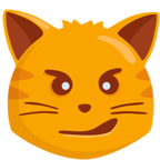 😼 Facebook / Messenger Cat Face With Wry Smile Emoji - Facebook Messenger