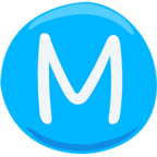 Ⓜ Facebook / Messenger Circled M Emoji - Facebook Messenger