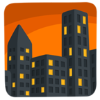 🌆 Facebook / Messenger Cityscape at Dusk Emoji - Facebook Messenger