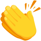 👏 Facebook / Messenger Clapping Hands Emoji - Facebook Messenger
