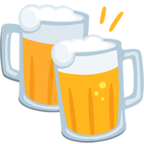 Смайлик Facebook 🍻 - Clinking Beer Mugs В Messenger'е
