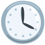 Facebook Emoji 🕓 - Four O'clock Messenger