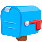 Facebook Emoji 📪 - Closed Mailbox With Lowered Flag Messenger