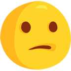 Emoji para Facebook 😕 - Confused Face Messenger