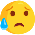 Emoji para Facebook 😥 - Disappointed but Relieved Face Messenger