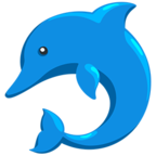 🐬 Смайлик Facebook / Messenger Dolphin - В Facebook Messenger'е