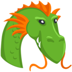 🐲 Facebook / Messenger «Dragon Face» Emoji - Messenger Application version