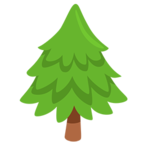 Facebook Emoji 🌲 - Evergreen Tree Messenger