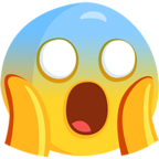 Facebook Emoji 😱 - Face Screaming in Fear Messenger