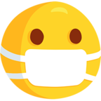 😷 Facebook / Messenger Face With Medical Mask Emoji - Facebook Messenger