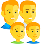 Facebook Emoji 👨‍👨‍👦‍👦 - Family: Man, Man, Boy, Boy Messenger