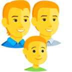 Facebook Emoji 👨‍👨‍👦 - Family: Man, Man, Boy Messenger