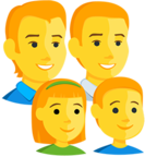 👨‍👨‍👧‍👦 Facebook / Messenger Family: Man, Man, Girl, Boy Emoji - Facebook Messenger