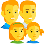 Facebook Emoji 👨‍👨‍👧‍👧 - Family: Man, Man, Girl, Girl Messenger