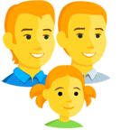 👨‍👨‍👧 Facebook / Messenger «Family: Man, Man, Girl» Emoji - Messenger Application version