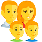 Emoji para Facebook 👨‍👩‍👦‍👦 - Family: Man, Woman, Boy, Boy Messenger
