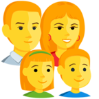 👨‍👩‍👧‍👦 Facebook / Messenger «Family: Man, Woman, Girl, Boy» Emoji - Messenger Application version