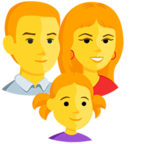 👨‍👩‍👧 Смайлик Facebook / Messenger Family: Man, Woman, Girl - В Facebook Messenger'е