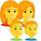 Facebook Emoji 👩‍👩‍👦‍👦 - Family: Woman, Woman, Boy, Boy Messenger