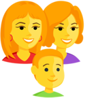 👩‍👩‍👦 Facebook / Messenger Family: Woman, Woman, Boy Emoji - Facebook Messenger