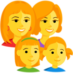Facebook Emoji 👩‍👩‍👧‍👧 - Family: Woman, Woman, Girl, Girl Messenger