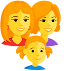 👩‍👩‍👧 Family: Woman, Woman, Girl Emoji para Facebook / Messenger - Facebook Messenger
