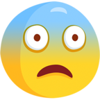 😨 Facebook / Messenger Fearful Face Emoji - Facebook Messenger