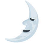 Facebook Emoji 🌛 - First Quarter Moon With Face Messenger