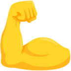 💪 Facebook / Messenger Flexed Biceps Emoji - Facebook Messenger