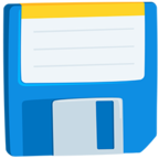 💾 Facebook / Messenger Floppy Disk Emoji - Facebook Messenger