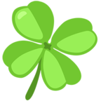 Facebook Emoji 🍀 - Four Leaf Clover Messenger