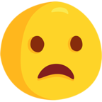 Facebook Emoji 😦 - Frowning Face With Open Mouth Messenger
