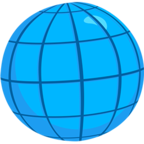 Facebook Emoji 🌐 - Globe With Meridians Messenger