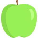 Смайлик Facebook 🍏 - Green Apple В Messenger'е