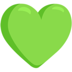 💚 Facebook / Messenger Green Heart Emoji - Facebook Messenger