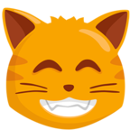 Facebook Emoji 😸 - Grinning Cat Face With Smiling Eyes Messenger