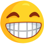 Facebook Emoji 😁 - Grinning Face With Smiling Eyes Messenger