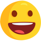 😀 Facebook / Messenger Grinning Face Emoji - Facebook Messenger