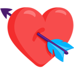 💘 Facebook / Messenger Heart With Arrow Emoji - Facebook Messenger