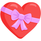 Facebook Emoji 💝 - Heart With Ribbon Messenger
