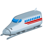🚅 Facebook / Messenger High-Speed Train With Bullet Nose Emoji - Facebook Messenger