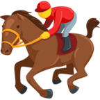 Facebook Emoji 🏇 - Horse Racing Messenger