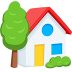 🏡 Facebook / Messenger «House With Garden» Emoji - Messenger Application version