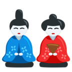 🎎 Смайлик Facebook / Messenger Japanese Dolls - В Facebook Messenger'е