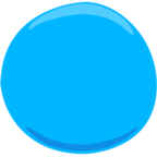 Facebook Emoji 🔵 - Blue Circle Messenger