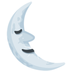 Facebook Emoji 🌜 - Last Quarter Moon With Face Messenger