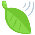 Facebook Emoji 🍃 - Leaf Fluttering in Wind Messenger