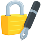 Facebook Emoji 🔏 - Locked With Pen Messenger