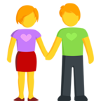 Facebook Emoji 👫 - Man and Woman Holding Hands Messenger